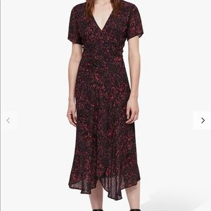 Final price AllSaints Seeta Rosey Dress, Berry Red